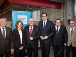 Podiumsdiskussion: v.l.: Michael Geistlinger, Marina Falcó, Franz Schausberger, Lukas Mandl, Adam Casals, Jordi Jaria Manzano