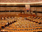 Hauptsitzungssaal des Europäischen Parlaments in Brüssel