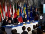 """""""Europa wird entweder vereint sein, oder es wird überhaupt nicht sein."""" Donald Tusk beim EU-Sondergipfel in Rom."""