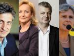 Josef Cap (SPÖ), Maria Fekter (ÖVP), Karl Öllinger (Grüne), Barbara Rosenkranz (Ex-FPÖ)