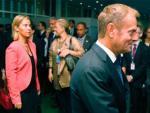 Donald Tusk, President of the European Council, im Vordergrund, und Federica Mogherini, zweite von Links.