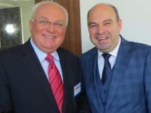 Franz Schausberger und Alfred Mullaraj, Vorsitzender des Ragionalrats von Durres, Albanien