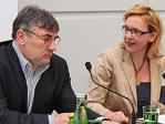 Dr. Thomas Schrapel, Konrad Adenauer Stiftung, und Mag. Adelheid Wölfl