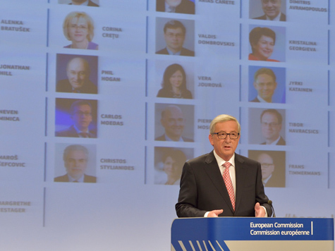 Die Juncker-Kommission steht; Bild: (c) European Commission