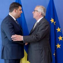 Volodymyr Groysman, Premierminister der Ukraine und Jean-Claude Juncker.