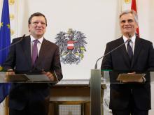 EU-Kommissionspräsident José Manuel Barroso bei seinem Besuch in Wien