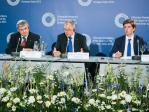 EU-Kommissar für Gesundheit und Verbraucherschutz Tonio Borgo  und der litauische Gesundheitsminister Vytenis Povilas Andriukait