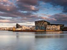 Einer der Finalisten: Harpa – Konzerthalle und Konferenzzentrum Reykjavik