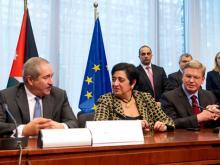 Minister Nasser Judeh, Dr. Erato Kozakou-Marcoullis und EU-Kommissar Štefan Füle