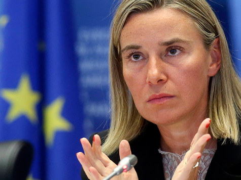 Mogherini: Russland kein strategischer Partner der EU mehr; Bild: EPA/OLIVIER HOSLET (c) dpa - Bildfunk
