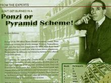 Charles Ponzi, italienischer Immigrant in den USA und einer der größten Schwindler und Betrüger der amerikanischen Geschichte