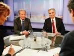 Bundeskanzler Werner Faymann und  Vizekanzler und Bundesminister Reinhold Mitterlehner in der ORF-Pressestunde zu Fragen zur Ste