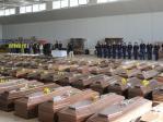 280 Särge der Opfer der Tragödie von Lampedusa