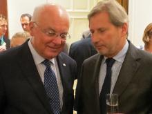 Franz Schausberger und Johannes Hahn