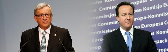 Jean-Claude Juncker und David Cameron: Die Lawine des Zerfalls könnte vom britischen Premier gestoppt werden. © European Union