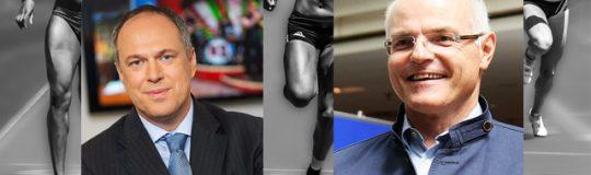 Mag. Richard Grasl, Kaufmännischer Direktor des ORF (Bild: (C) ORF/Thomas Ramstorfer) & Karl Stoss, Präsident des Österreichischen Olympischen Comités. (Bild: (C) Manfred Werner)