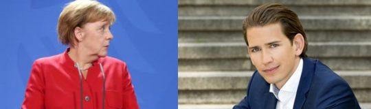 Angela Merkel © European Union, Sebastian Kurz © OEVP.at