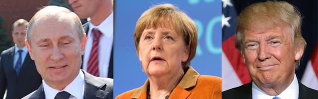 Immer öfter stellt sich die Frage, ob der Trump-Effekt nicht ein durchaus heilsamer Schock sein könnte. ©  Angela Merkel: European Union 2015, Donald Trump:  Gage Skidmore
